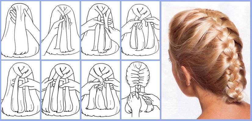 Как заплести колосок самой себе на короткие волосы пошагово