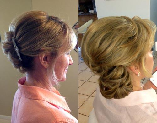 Прическа для мамы на свадьбу дочери на средние волосы