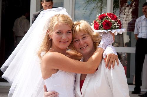 Прическа на свадьбе дочери