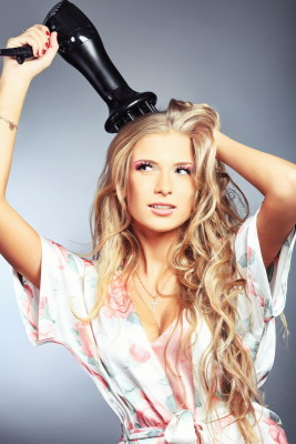 Как сделать причёску с феном диффузором: видео