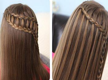 Плетение в две косы