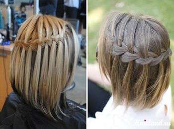 Французская коса на каре