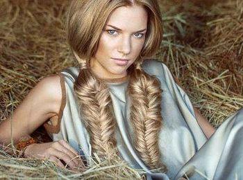 Плетение косы - Рыбий хвост