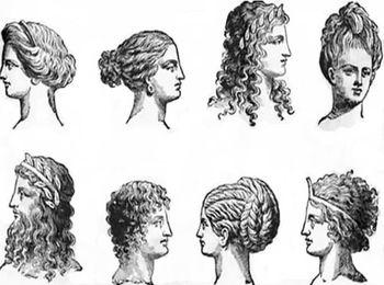 Прически в Древней Греции