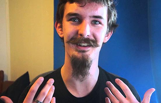 Козлиная бородка на средние волосы с усами